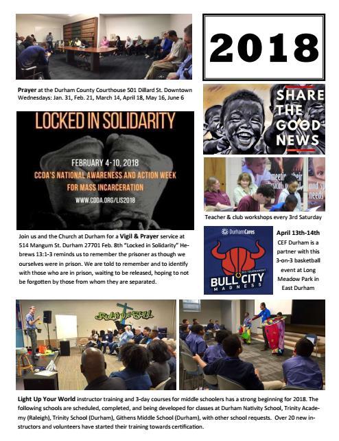 Cef Ministries Durham 2018 Update